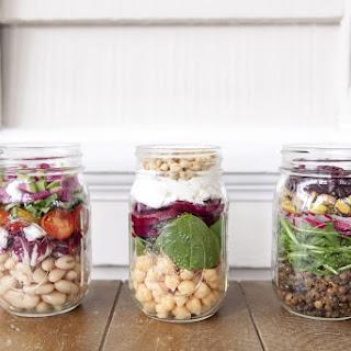 3 Mason Jar Salads.