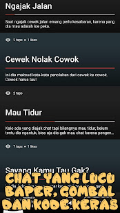 Kumpulan Chat Lucu Baper Sedih Gombal Kode Keras Aplikacii Na