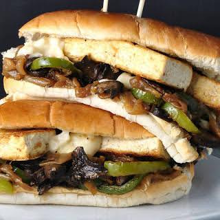 Philly Tofu Cheesesteak With Portobello Mushrooms [Vegan].