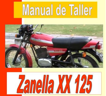 zanella XX 125 manual taller - servicio- mecanica y despiece