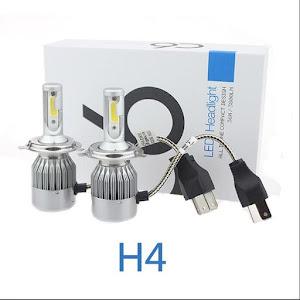 Set 2 becuri auto LED C6 H4 6000K cu 2 faze