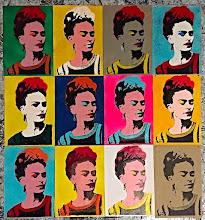 """Foto: Frida """"Warhol"""" Novelli  29,7x42cm ognuna  Serigrafia più stencil con ausilio di vernici acriliche spray  Ultime della serie  DISPONIBILI  Per informazioni e prezzi: manualedelrisveglio@gmail.com"""