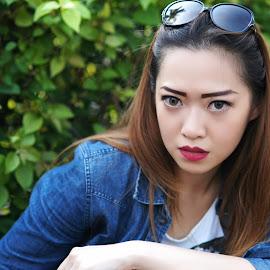 Street Model by Yamin Tedja - People Portraits of Women ( woman, beauty, asian, model, portrait, girl )