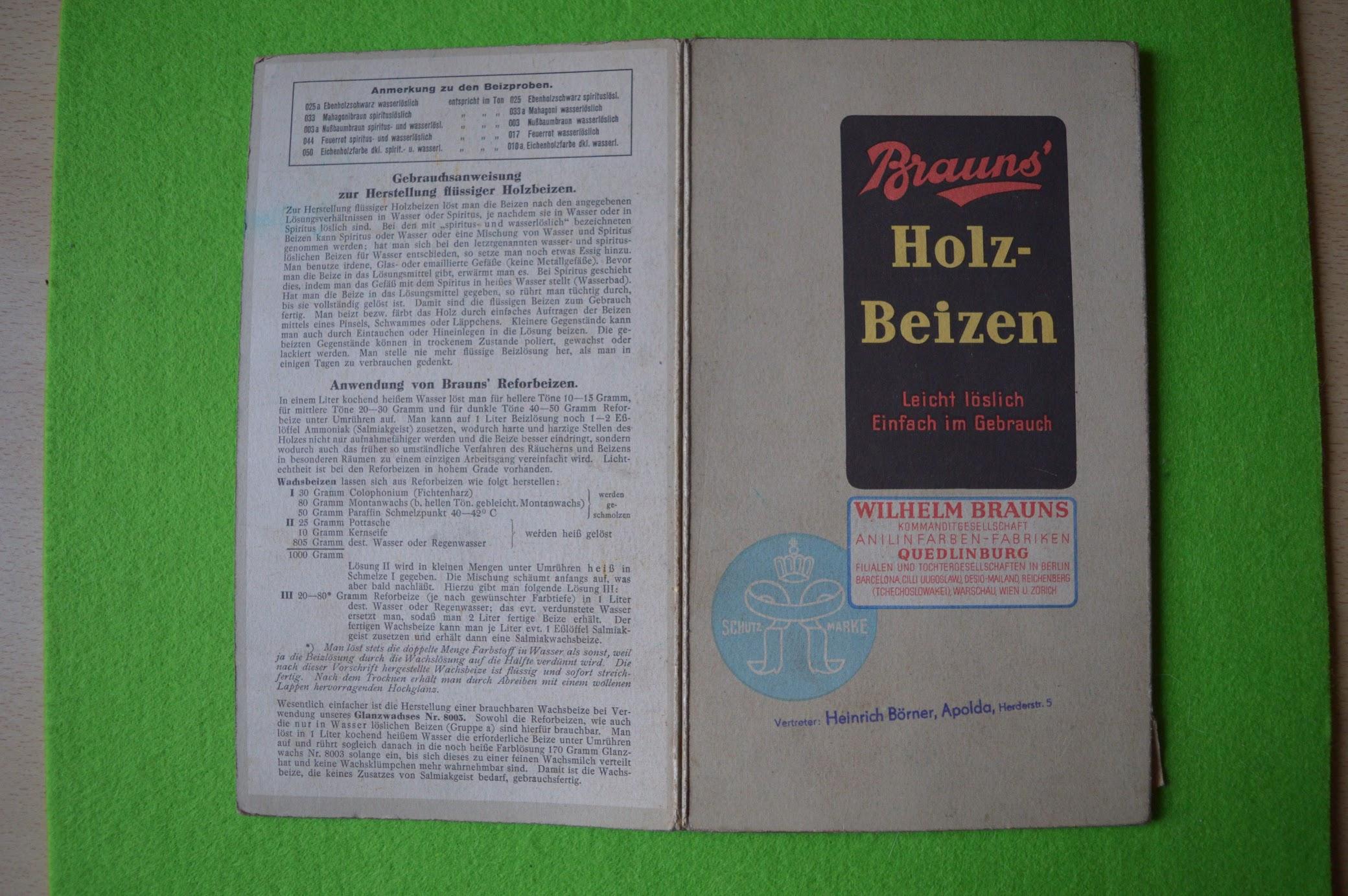 Brauns' Holz-Beizen, Quedlinburg