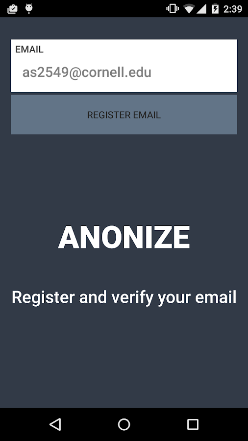 Anonize- screenshot