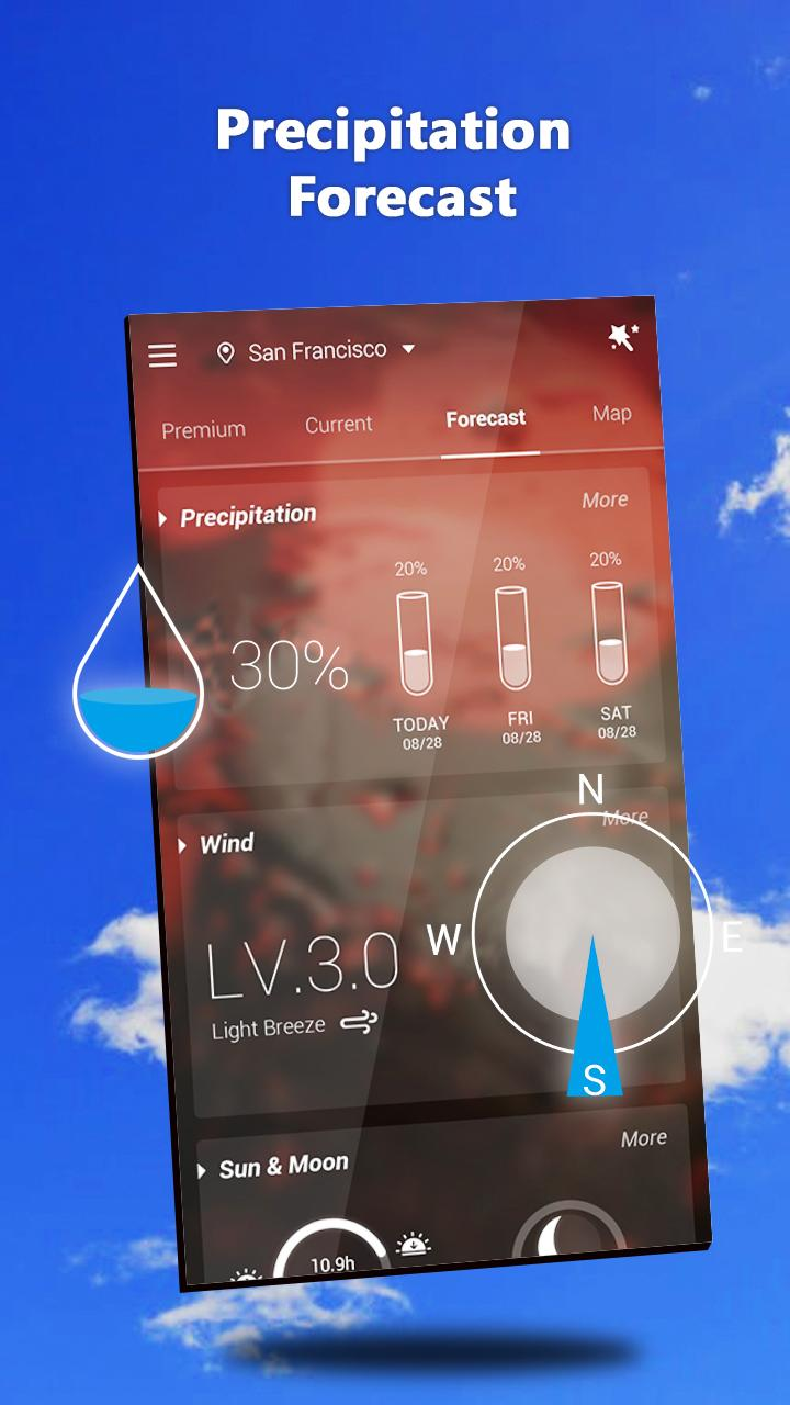 GO Weather - Widget, Theme, Wallpaper, Efficient Screenshot 3