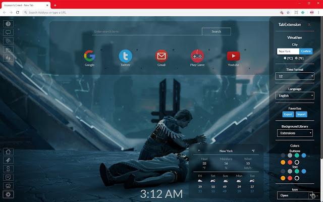 Assassin's Creed HD New Tab