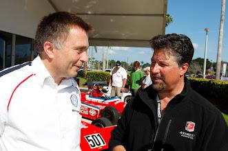Photo: Jost Capito, Michael Andretti, Volkswagen 50 years in Motorsport, Formula Vee, Daytona International Speedway, Courtesy of Volkswagen of North America