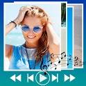 Make slideshow with music icon