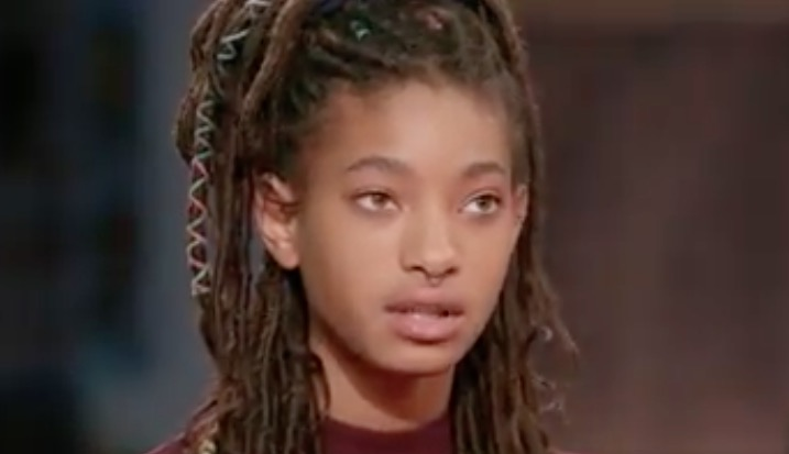 Willow said she didn't tell anyone about what she was going through.
