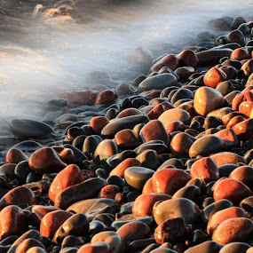Father Baragas Beach by Tammy Drombolis - Nature Up Close Rock & Stone (  )