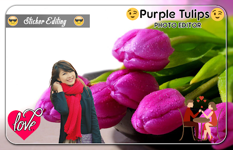 Purple Tulips Photo Editor - náhled