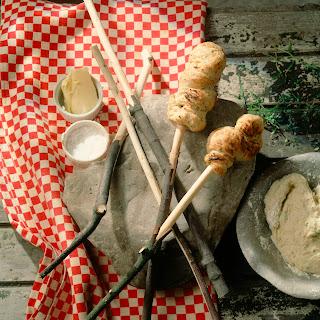 Zucchini-Stockbrot