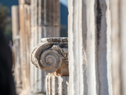 Ephesus-column.jpg - Remants of an ionic column at Ephesus, Turkey.