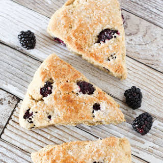 Gluten Free Vegan Blackberry Scones.