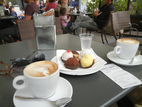 Photo: So Chris and I had cappuccinos and pastries there