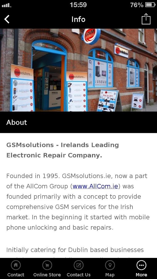 GSMsolutions.ie- screenshot