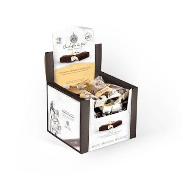 Chocolat Guimauves enrobées de chocolat noir 24 Boîtes présentoirs