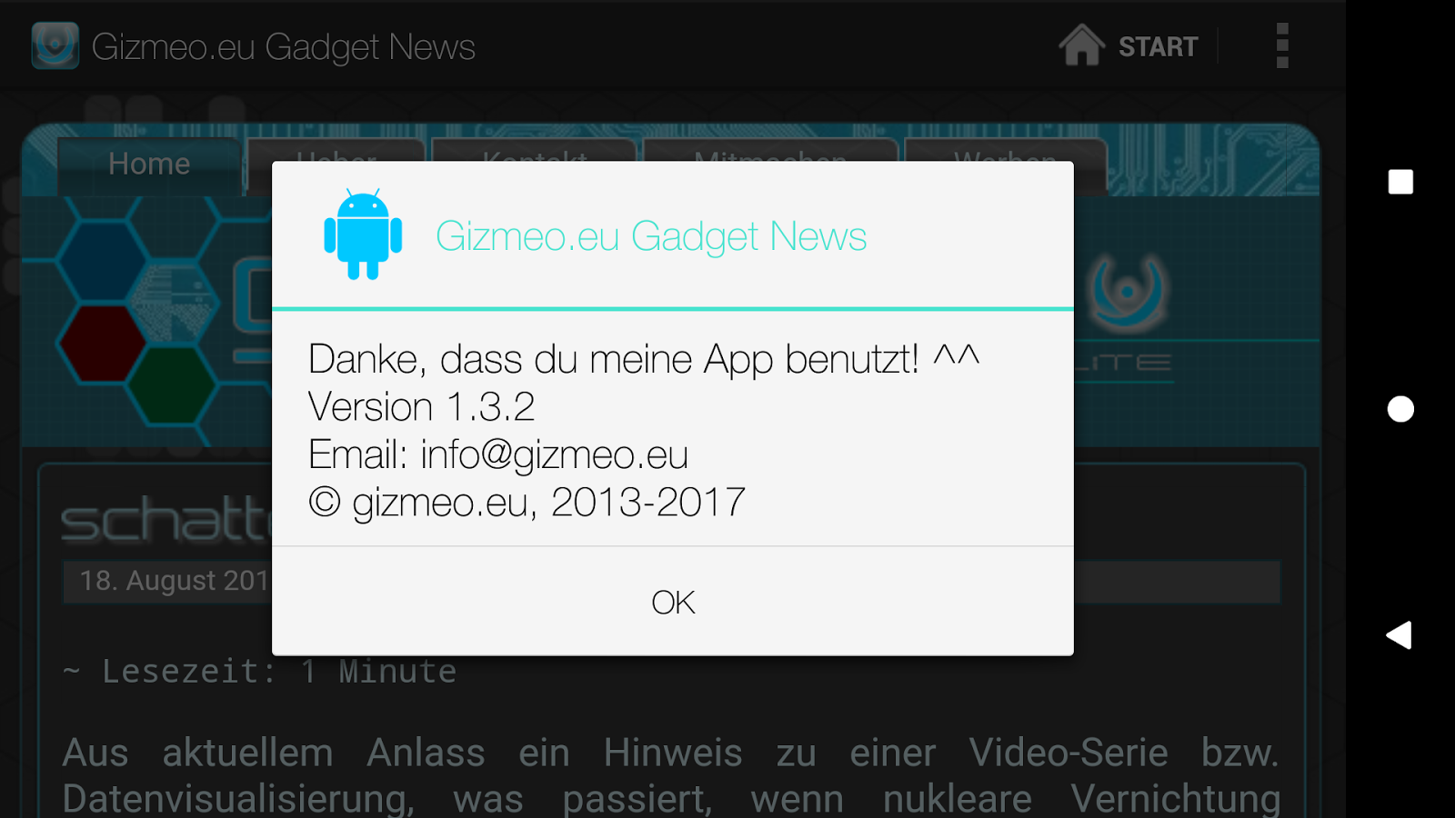 Gizmeo.eu Gadget News- screenshot