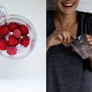 Raw Raspberry + Vanilla Chia Pudding