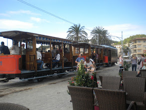 Photo: anther tram coming into the Port of Soller