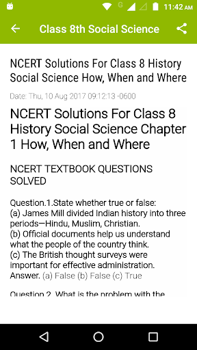 8th Social Science NCERT 0.2 screenshots 2