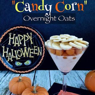 """Candy Corn"" Overnight Oats"