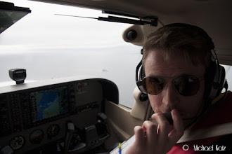 Photo: Ola er co-pilot.