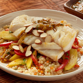 Moroccan-Style Cod with Mango-Carrot Slaw