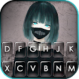 Anime Mask Girl Keyboard Theme