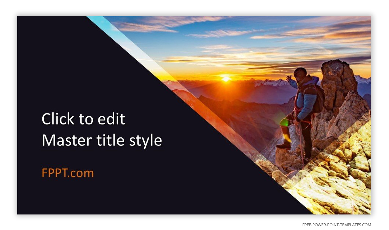 The main image of this introduction slide is a man climbing a mountain at dawn.