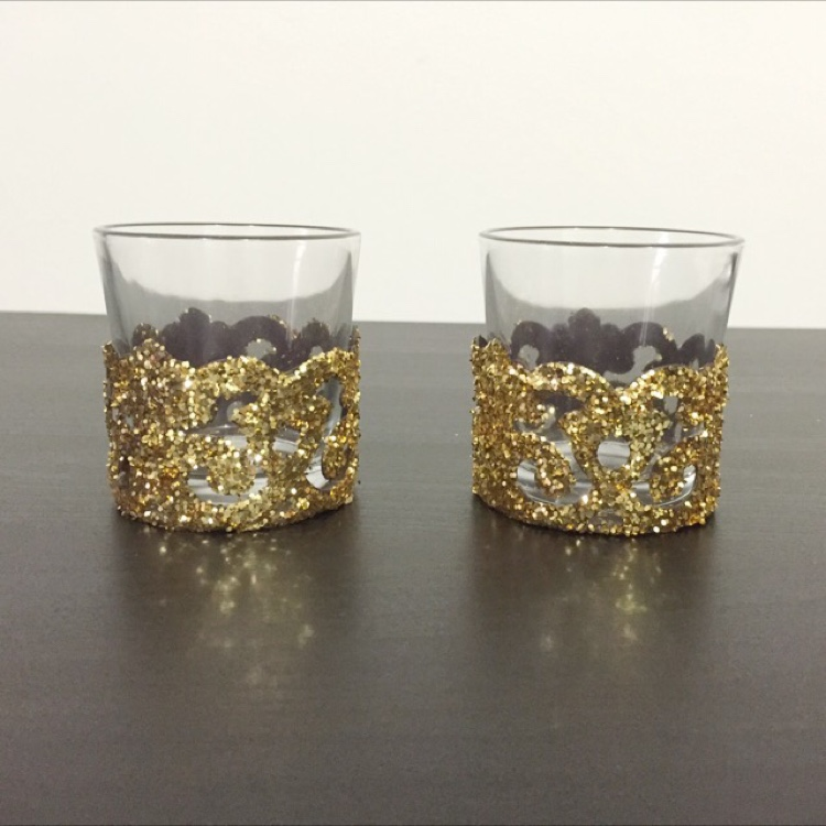 Glitter Tealight Holder (1 Set) by Whimsicalio