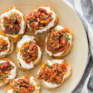 Sun-Dried Tomato Ricotta Crostini Recipe