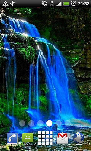 Blue Nature Waterfalls LWP