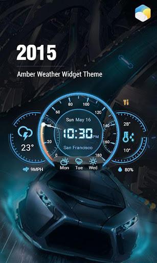 儀表板帥氣風格時鐘天氣小工具,特殊設計,專業精準天氣app