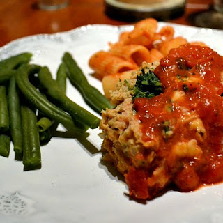 Mozzarella and Spinach Stuffed Chicken Meatloaf