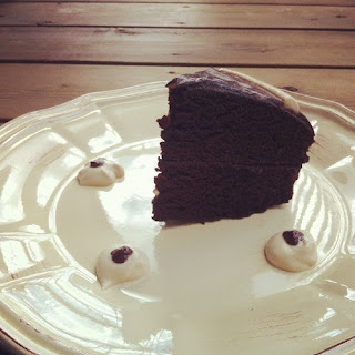 Orange Infused Chocolate Cake with Dark Chocolate Ganache and Cashew Cream