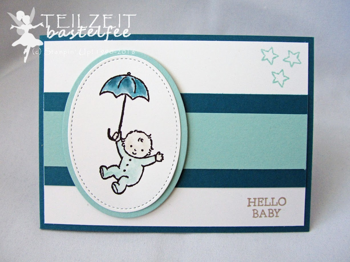 Stampin' Up! – In{k}spire_me Birthday Challenge #310, Moon Baby, birth, Baby Boy, Baby Girl, Geburt Mädchen, Junge
