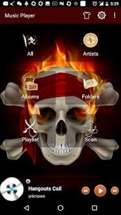 Skull Theme For Free Music Player - náhled