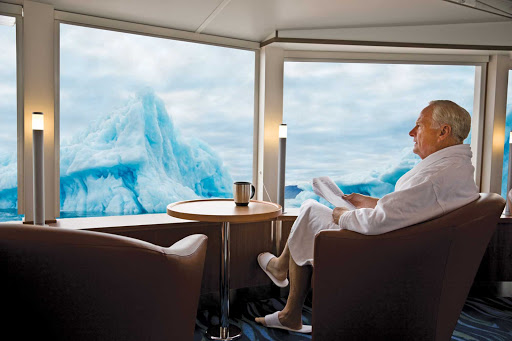 National-Geographic-Explorer-library.jpg - National Geographic Explorer offers passengers an extensive library, a cozy place to relax and some killer views.