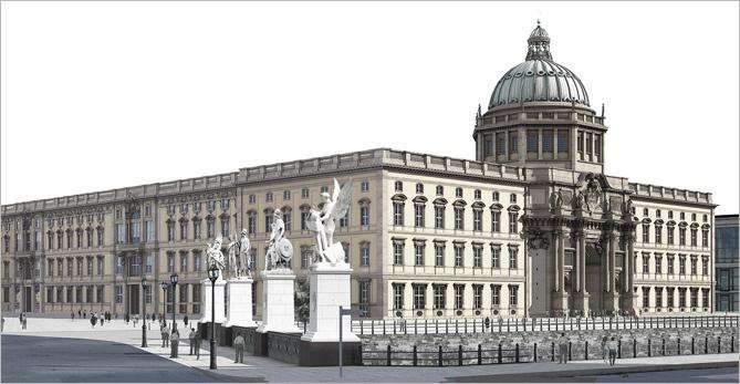 ANSYS Северно-западная сторона Берлинского Городского Дворца – Гумбольдт-Форума соответствует первоначальному проекту здания<br />© Stiftung Berliner Schloss–Humboldt Forum/Architect: Franco