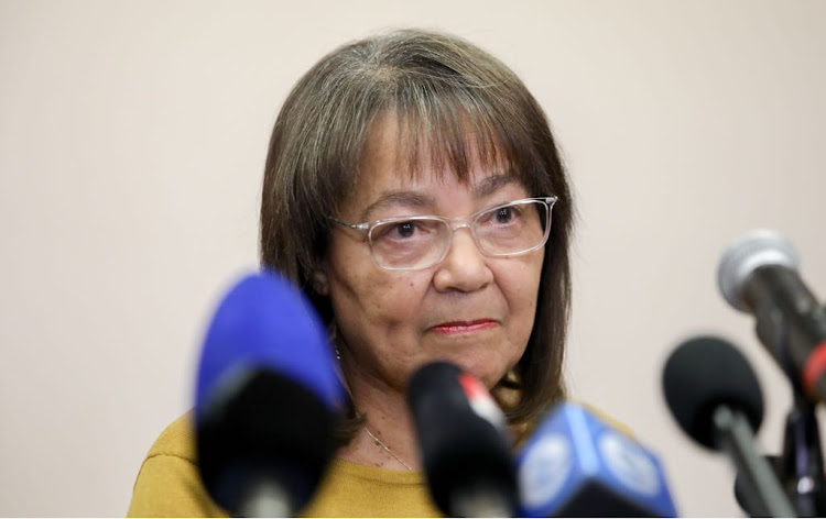 Patricia de Lille addresses the media in Cape Town after being ousted from the DA, on May 8 2018. Picture: DAVE CHAMBERS