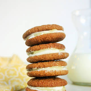 Ginger Sandwich Cookies with Cream Cheese and Lemon Curd.