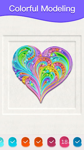 Paper Quilling Art: Color by Numbers 1.0 screenshots 2