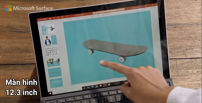 "Laptop Microsoft Surface Pro 7 12.3"" Platinum with Type Cover QWU-00001   Màn hình 12.3 inch"