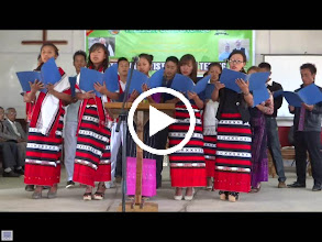 Video: Liangmai youth singing in English at the Sunday morning service at Tening town.