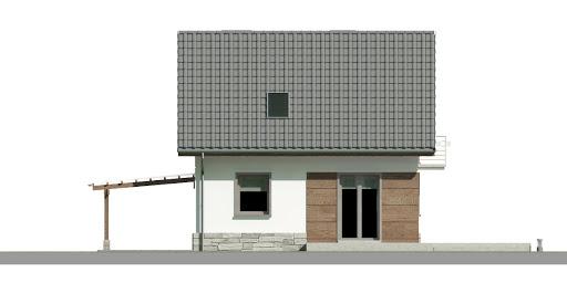 Dom przy Wiosennej 8 - Elewacja tylna