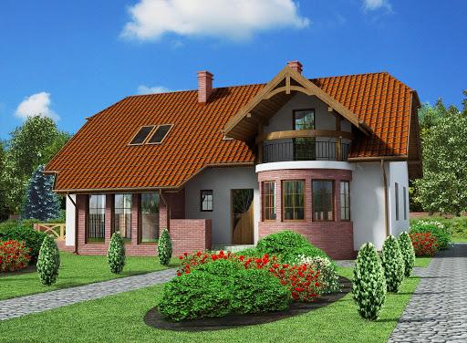 projekt Merlo szkielet drewniany, dom dwurodzinny
