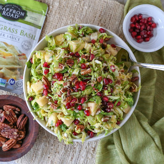 Shaved Brussels Sprouts Salad with Lemongrass Ginger Dressing Recipe