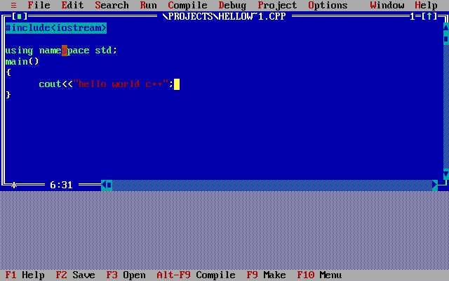Phần mềm lập trình Turbo C ++ dành cho Windows